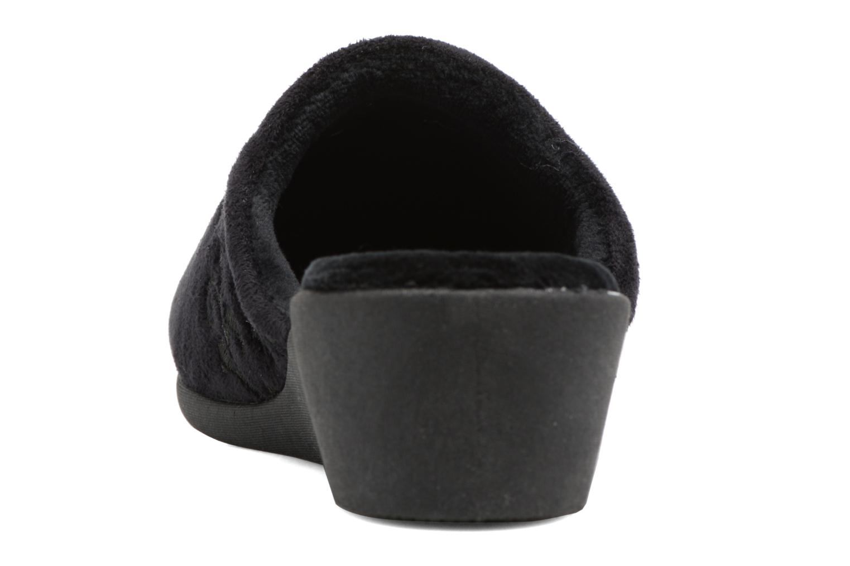 Pantuflas Isotoner Mule talon suédine Negro vista lateral derecha