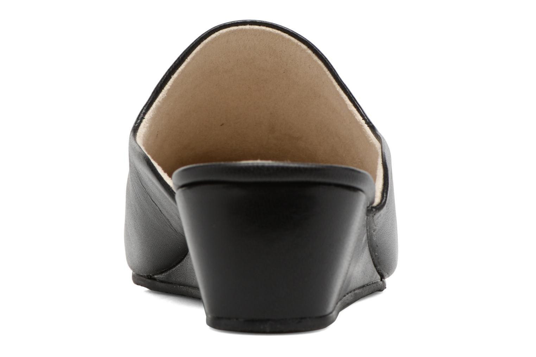 Chaussons Isotoner Mule talon cuir Noir vue droite