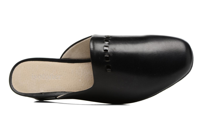 Pantuflas Isotoner Mule talon cuir Negro vista lateral izquierda