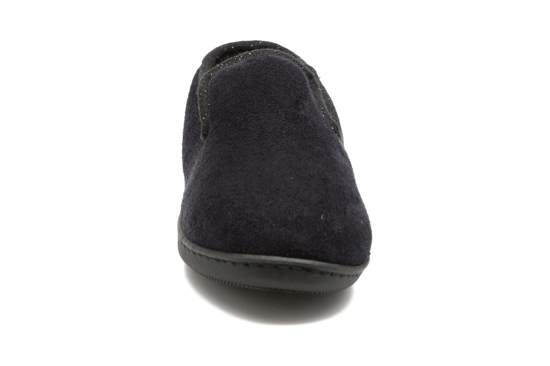 Chaussons Isotoner Charentaise Ergonomique Suédine W Noir vue portées chaussures