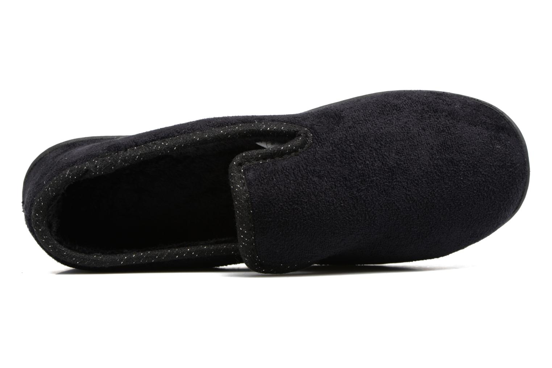 Pantuflas Isotoner Charentaise Ergonomique Suédine W Negro vista lateral izquierda
