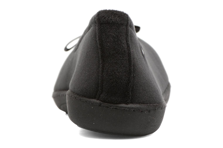 Chaussons Isotoner Ballerine ergonomique micro velours Noir vue droite