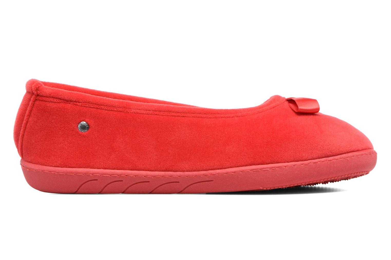 Pantuflas Isotoner Ballerine ergonomique micro velours Rojo vistra trasera