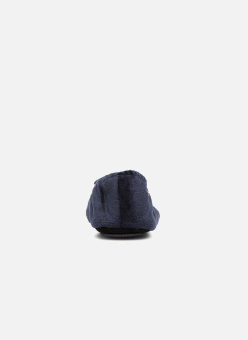 Chaussons Isotoner Ballerine micro velours bijoux Bleu vue droite