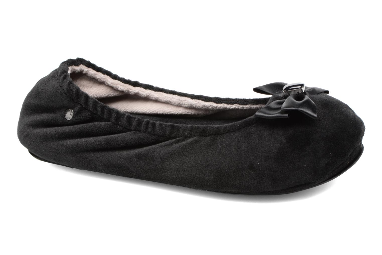 Pantuflas Isotoner Ballerine micro velours bijoux Negro vista de detalle / par
