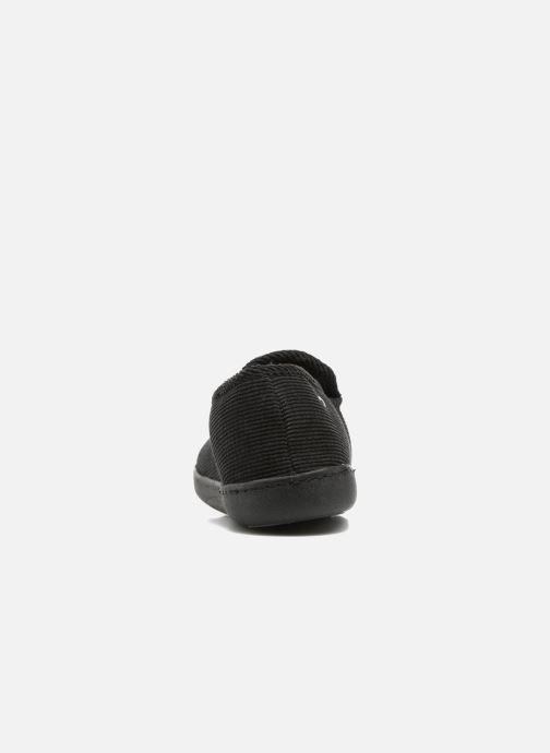 Chaussons Isotoner Charentaise ergonomique velours côtelé Noir vue droite