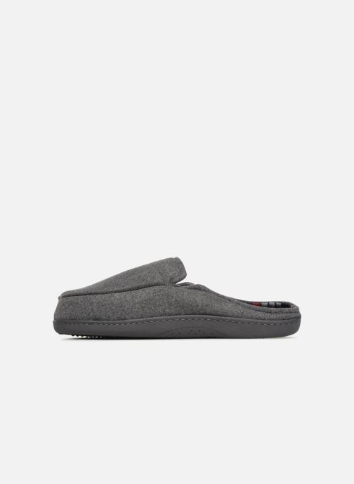 Slippers Isotoner Mule ergonomique flanelle Grey front view