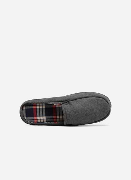 Slippers Isotoner Mule ergonomique flanelle Grey view from the left