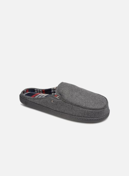 Slippers Isotoner Mule ergonomique flanelle Grey detailed view/ Pair view