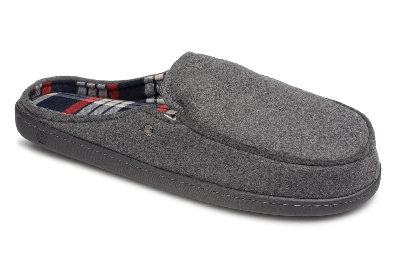 Chaussons Isotoner Mule ergonomique flanelle Gris vue détail/paire