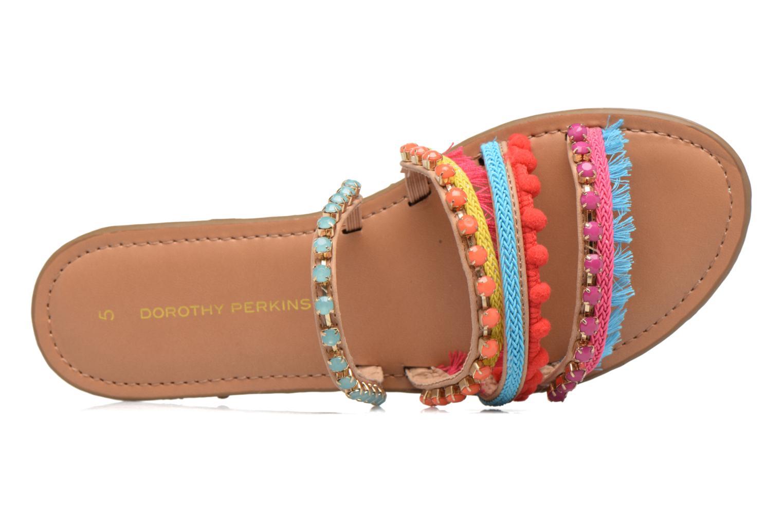 Zuecos Dorothy Perkins Fraya Multicolor vista lateral izquierda