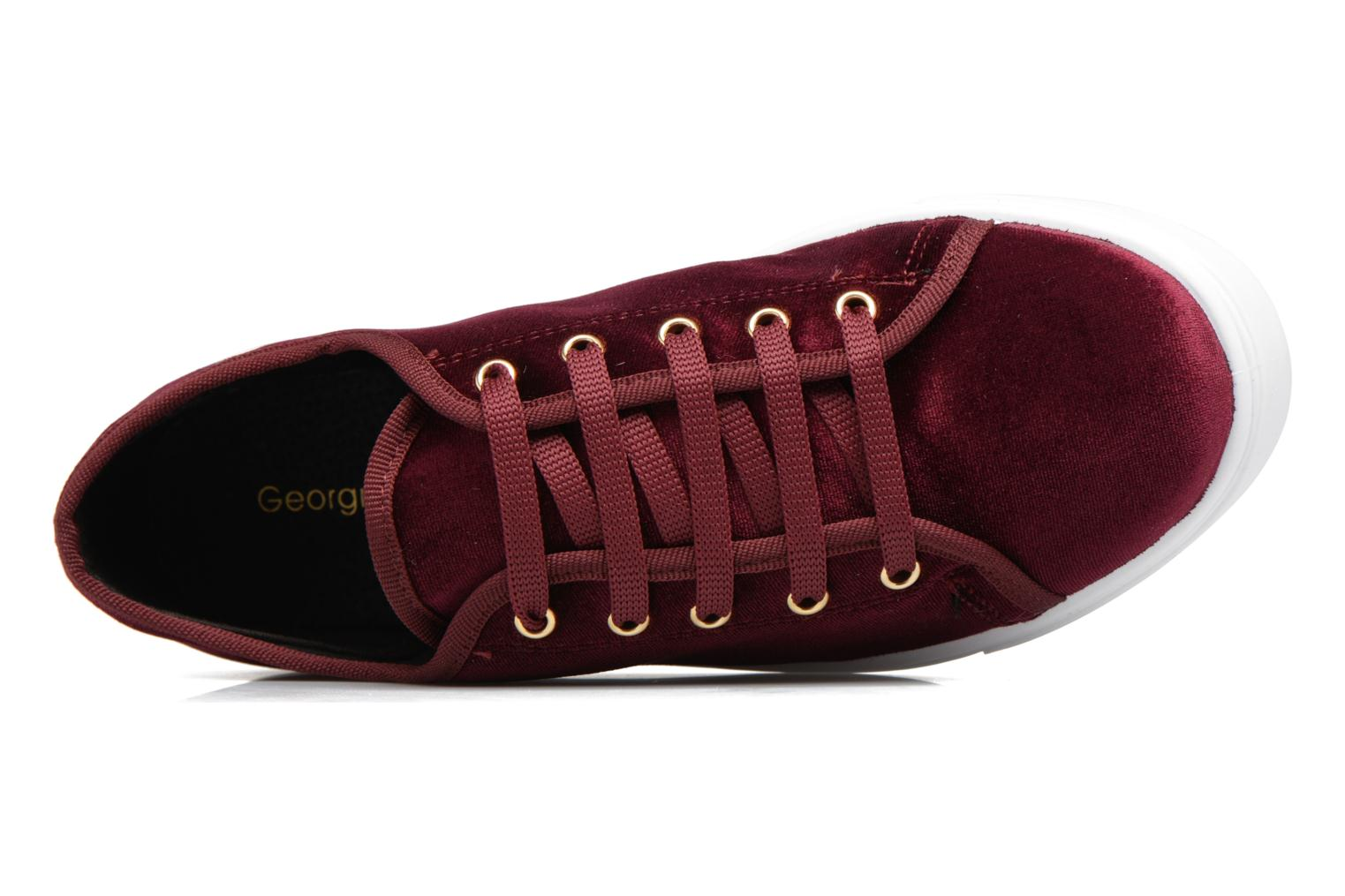 Baskets Georgia Rose Evola Bordeaux vue gauche