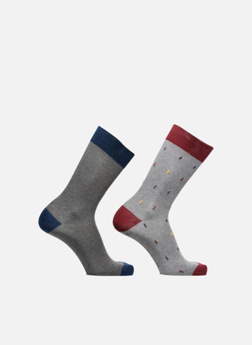 Chaussettes et collants Sarenza Wear Chaussettes Homme rectangles Pack de 2 coton Gris vue détail/paire