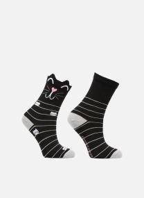 Chaussettes Fille Chat Pack de 2 coton