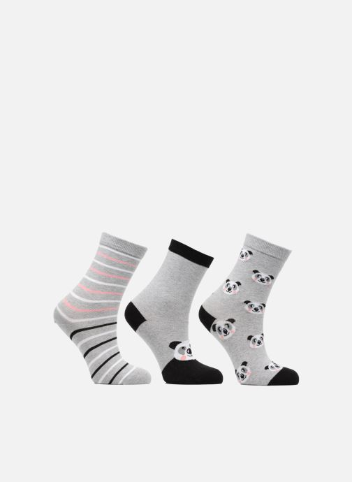 Chaussettes et collants Sarenza Wear Chaussettes Fille Panda Pack de 3 coton Gris vue détail/paire
