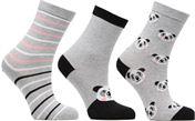 Socken & Strumpfhosen Accessoires Chaussettes Fille Panda Pack de 3 coton