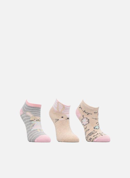 Socken & Strumpfhosen Sarenza Wear Chaussettes Invisibles Fille Lapin Pack de 3 coton beige ansicht von hinten