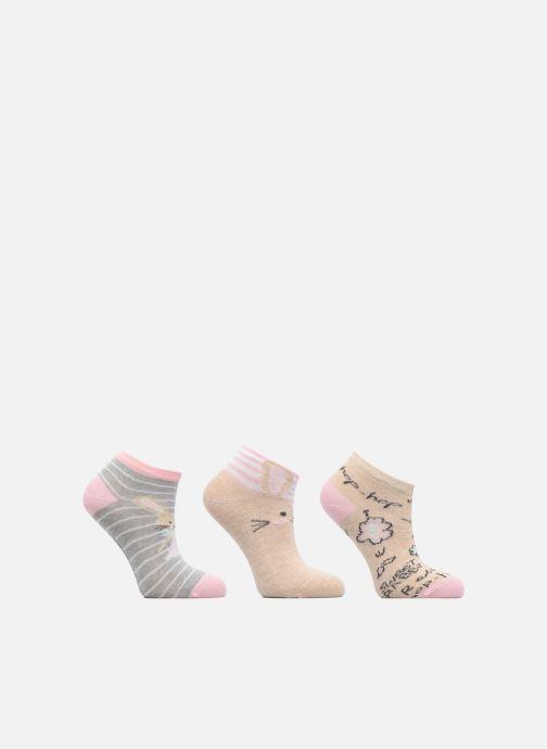 Chaussettes et collants Sarenza Wear Chaussettes Invisibles Fille Lapin Pack de 3 coton Beige vue détail/paire