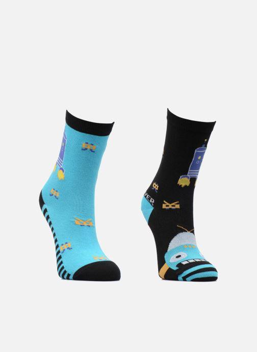 Socken & Strumpfhosen Sarenza Wear Chaussettes Garçon Robot Pack de 2 coton blau ansicht von hinten