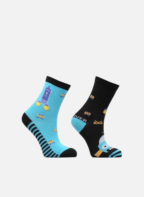 Socken & Strumpfhosen Sarenza Wear Chaussettes Garçon Robot Pack de 2 coton blau detaillierte ansicht/modell