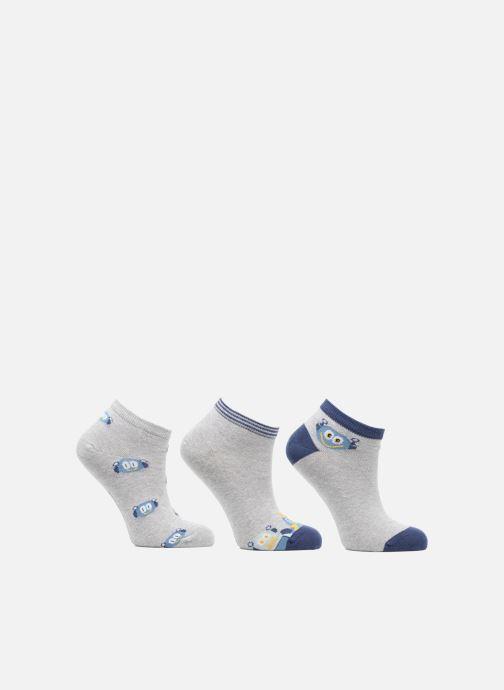 Chaussettes et collants Sarenza Wear Chaussettes Invisibles Garçon Robot Pack de 3 coton Gris vue détail/paire