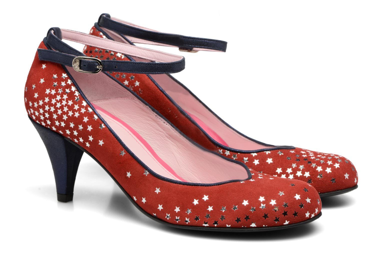 Zapatos de tacón Annabel Winship Queen Rojo vista 3/4