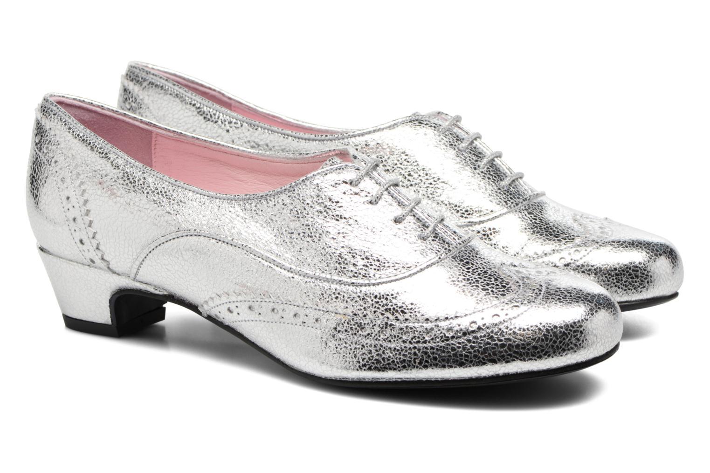 Zapatos con cordones Annabel Winship Uber Plateado vista 3/4