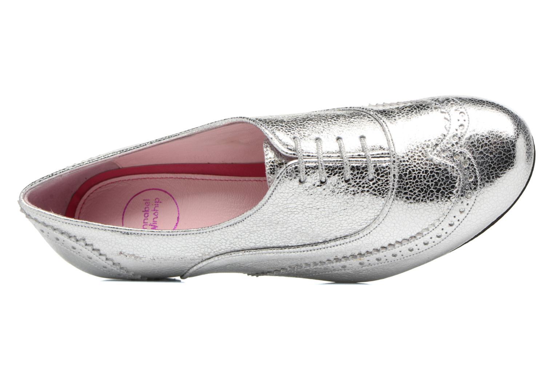 Zapatos con cordones Annabel Winship Uber Plateado vista lateral izquierda