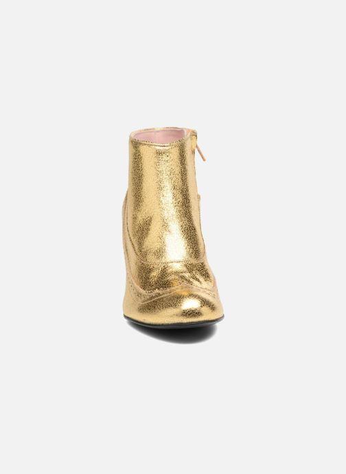 Stivaletti e tronchetti Annabel Winship Uptown Oro e bronzo modello indossato