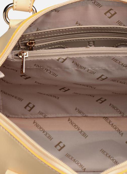 Handtassen Hexagona Mini Geel achterkant