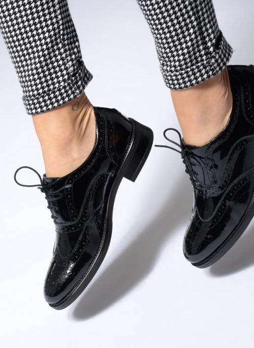 Zapatos con cordones Georgia Rose Aleria Negro vista de abajo