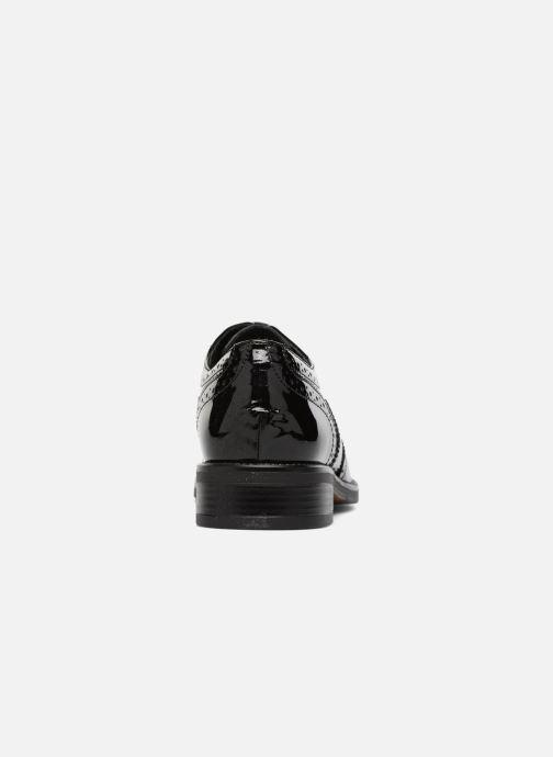 Zapatos con cordones Georgia Rose Aleria Negro vista lateral derecha