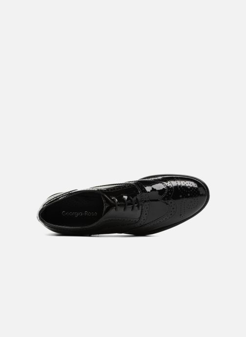 Zapatos con cordones Georgia Rose Aleria Negro vista lateral izquierda