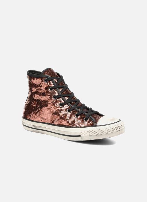 Sneakers Converse Chuck Taylor All Star Distressd Hi Oro e bronzo vedi  dettaglio paio ebc1f1845d5