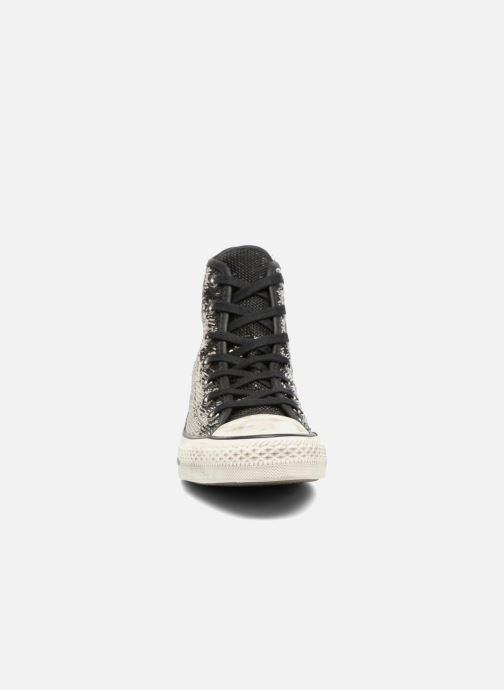 Sneaker Converse Chuck Taylor All Star Distressd Hi grau schuhe getragen