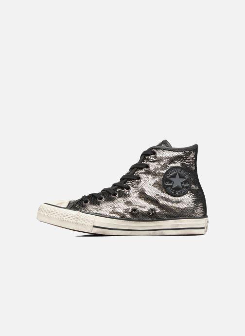 Sneaker Converse Chuck Taylor All Star Distressd Hi grau ansicht von vorne