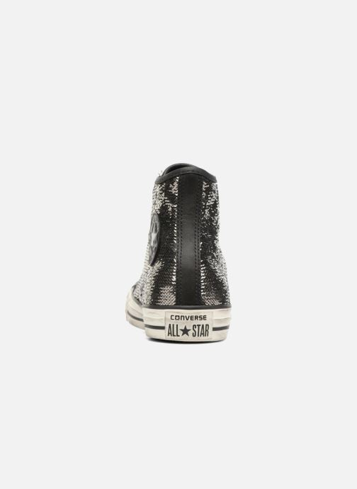 Sneaker Converse Chuck Taylor All Star Distressd Hi grau ansicht von rechts