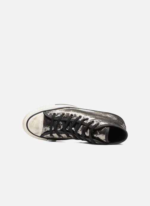 Sneaker Converse Chuck Taylor All Star Distressd Hi grau ansicht von links