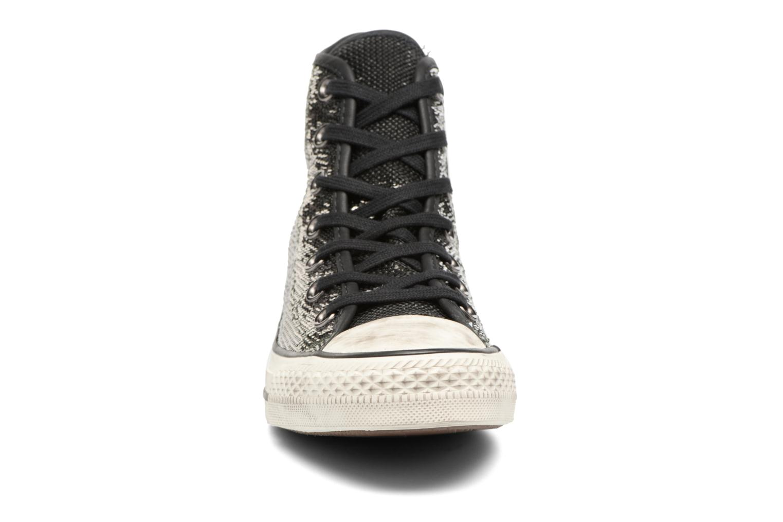 Baskets Converse Chuck Taylor All Star Distressd Hi Gris vue portées chaussures