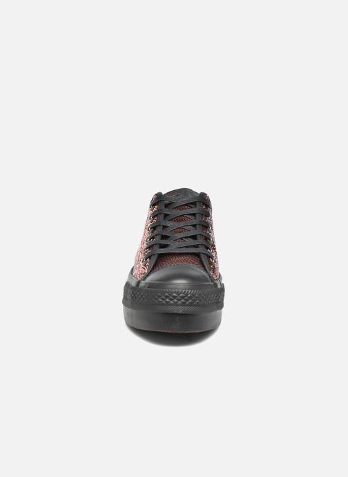 Sneakers Converse Chuck Taylor All Star Platform Ox Oro e bronzo modello indossato