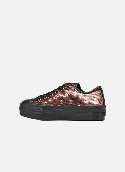 Sneakers Converse Chuck Taylor All Star Platform Ox Oro e bronzo immagine frontale