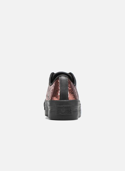 Sneakers Converse Chuck Taylor All Star Platform Ox Oro e bronzo immagine destra