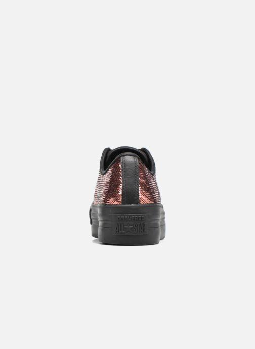 Sneaker Converse Chuck Taylor All Star Platform Ox gold/bronze ansicht von rechts