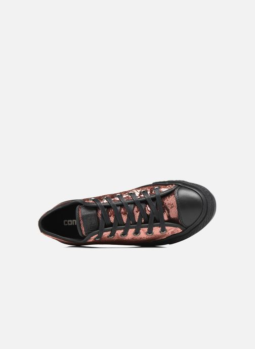 Sneakers Converse Chuck Taylor All Star Platform Ox Oro e bronzo immagine sinistra