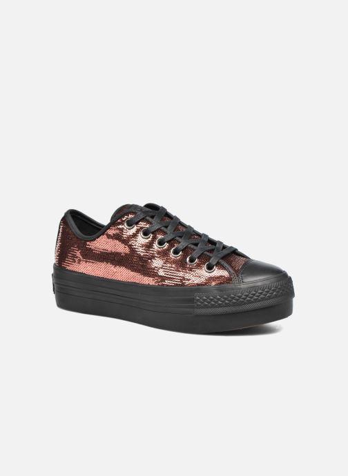 Sneakers Converse Chuck Taylor All Star Platform Ox Oro e bronzo vedi  dettaglio paio 12642571bb2