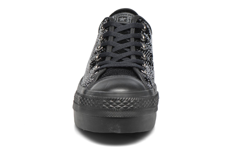 Baskets Converse Chuck Taylor All Star Platform Ox Noir vue portées chaussures
