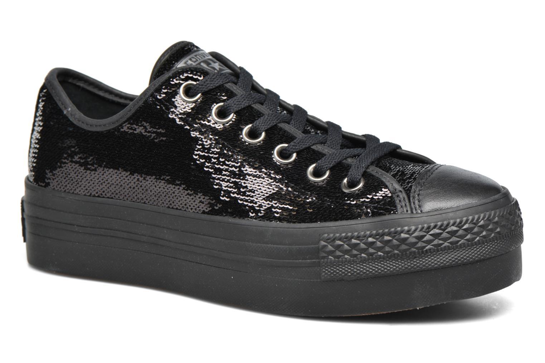Baskets Converse Chuck Taylor All Star Platform Ox Noir vue détail/paire
