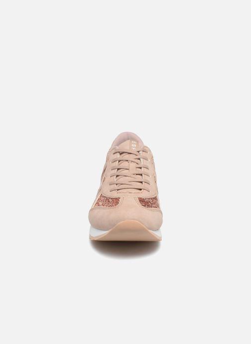 Baskets Esprit Astro glitter Or et bronze vue portées chaussures