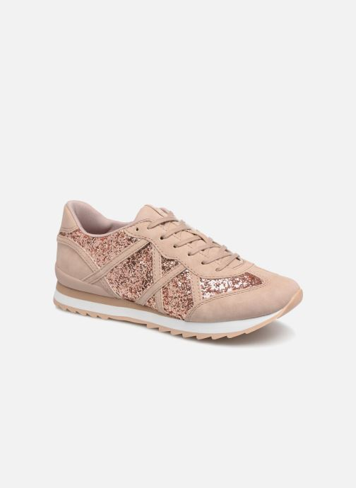 Trainers Esprit Astro glitter Bronze and Gold detailed view/ Pair view