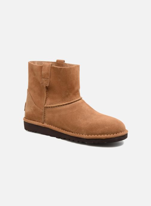 Bottines et boots UGG Classic Unlined Mini Marron vue détail/paire